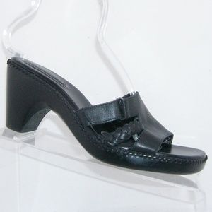 Naturalizer 'Rave' black leather sandal mules 8M